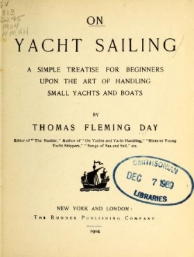 """Cover of """"On yacht sailing"""""""