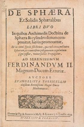 "Cover of ""Opera geometrica Evangelistæ Torricellii"""