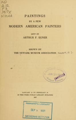 """Cover of """"Paintings by a few modern American painters"""""""