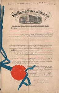 "Cover of ""Patents granted to Charles F. Brush relating to electric machinery and apparatus"""