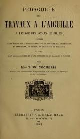 """Cover of """"Pédagogie des travaux à l'aiguille à l'usage des écoles de filles"""""""