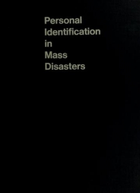 """Cover of """"Personal identification in mass disasters"""""""