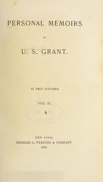 """Cover of """"Personal memoirs of U.S. Grant"""""""