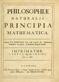 "Cover of ""Philosophiae naturalis principia mathematica /"""