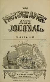 """Cover of """"The Photographic art-journal"""""""
