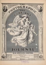 """Cover of """"The Photographic and fine art journal"""""""