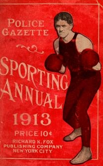 """Cover of """"Police gazette sporting annual"""""""