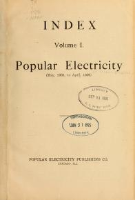 "Cover of ""Popular electricity in plain English"""