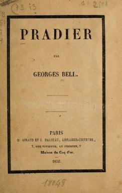"Cover of ""Pradier"""