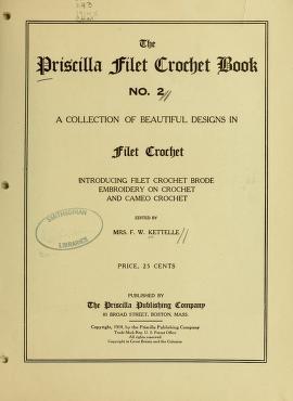 """Cover of """"The Priscilla filet crochet book, no. 2"""""""