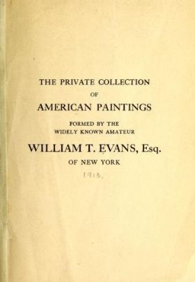 """Cover of """"The private collection of American paintings"""""""