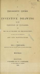 "Cover of ""A progressive course of inventive drawing on the principles of Pestalozzi"""