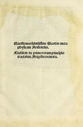 """Cover of """"Questiones subtilissme Scoti in metaphysicam Aristotelis"""""""