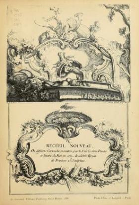 """Cover of """"Recüeil nouveau de differens cartouche inventez par le Sr. de la Joüe"""""""