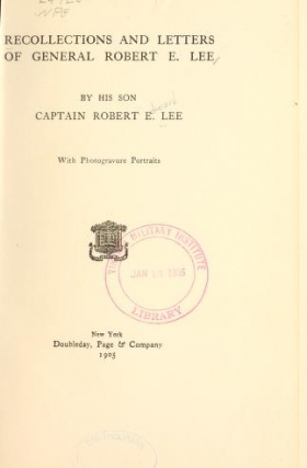 "Cover of ""Recollections and letters of General Robert E. Lee"""