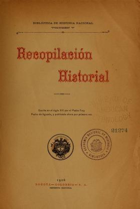 """Cover of """"Recopilación historial"""""""