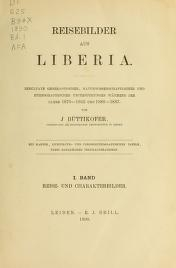 Cover of Reisebilder aus Liberia