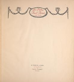 """Cover of """"Les robes de Paul Poiret /"""""""