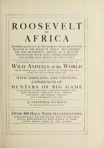 """Cover of """"Roosevelt in Africa"""""""