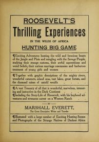 """Cover of """"Roosevelt's thrilling experiences in the wilds of Africa hunting big game"""""""