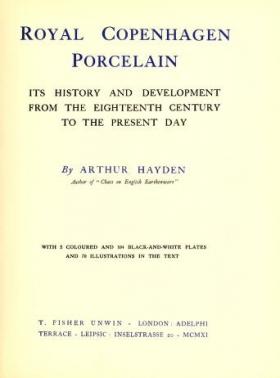 """Cover of """"Royal Copenhagen porcelain"""""""