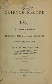 "Cover of ""The Science record"""