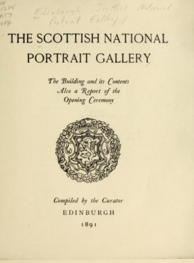 """Cover of """"The Scottish National Portrait Gallery"""""""