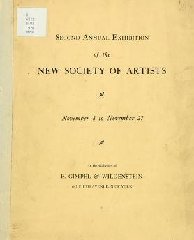 "Cover of ""Second annual exhibition of the New Society of Artists"""
