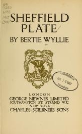 """Cover of """"Sheffield plate"""""""