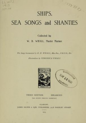 "Cover of ""Ships, sea songs and shanties"""