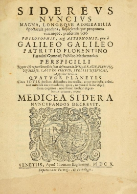 """Cover of """"Sidereus nuncius"""""""