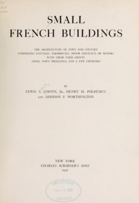 """Cover of """"Small French buildings"""""""