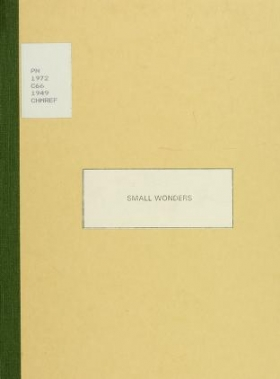 """Cover of """"Small wonders, puppets and marionettes"""""""