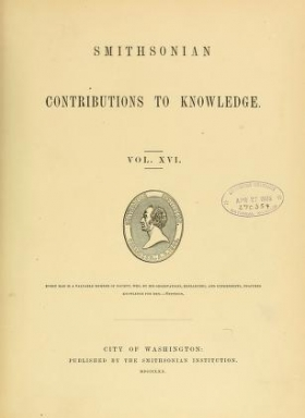 """Cover of """"Smithsonian contributions to knowledge"""""""