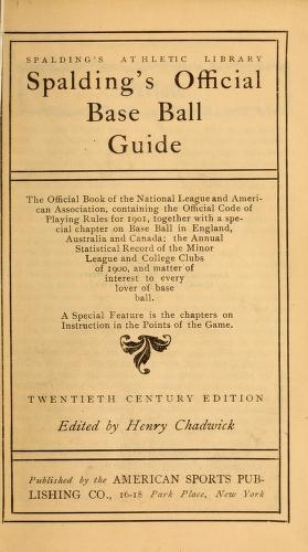 Cover of Spalding's base ball guide, and official league book