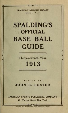 "Cover of ""Spalding's base ball guide, and official league book for"""