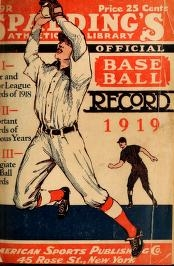 "Cover of ""Spalding's official base ball record"""