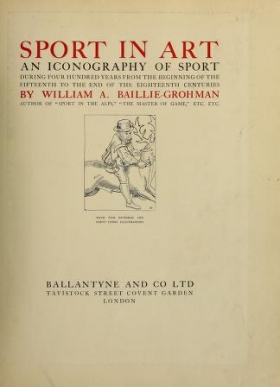 "Cover of ""Sport in art"""