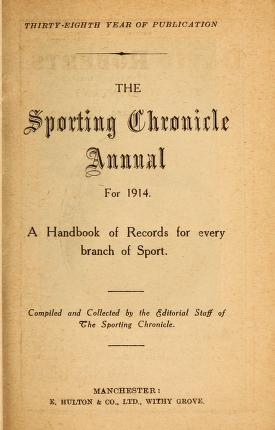 "Cover of ""The sporting chronicle annual--"""