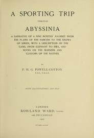 """Cover of """"A sporting trip through Abyssinia"""""""