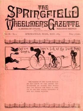 "Cover of ""The Springfield wheelmen's gazette"""