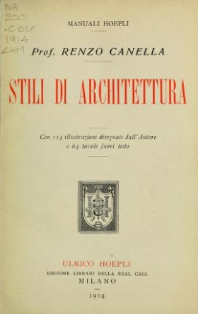 """Cover of """"Stili di architettura"""""""