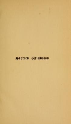 """Cover of """"Storied windows"""""""