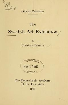 "Cover of ""Swedish art exhibition"""