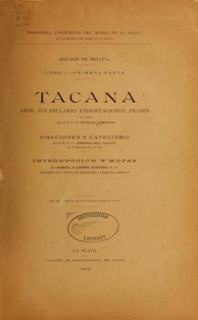 "Cover of ""Tacana"""