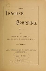 "Cover of ""The teacher of sparring /"""