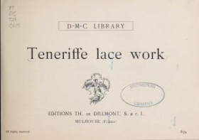 """Cover of """"Teneriffe lace work"""""""