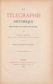 """Cover of """"La télégraphie historique"""""""