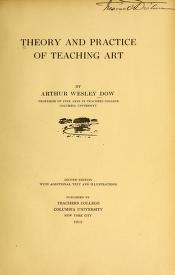 "Cover of ""Theory and practice of teaching art"""