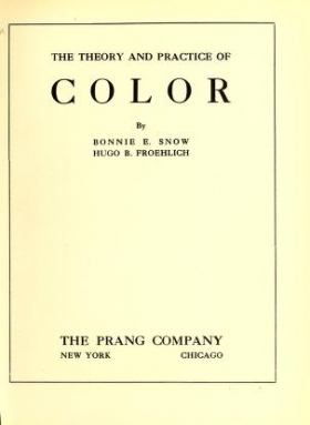 "Cover of ""The theory and practice of color"""